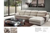 Sofà stabilito L figura di svago della mobilia del sofà sezionale domestico del cuoio