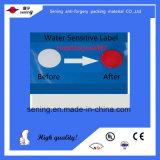 Autocollant sensible d'étiquette de l'eau