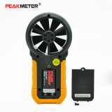 Peakmeter Ms6252bデジタルの風力計及び湿気及び温度のメートル