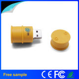 Movimentação dada forma do flash do USB do óleo da impressão do logotipo cubeta feita sob encomenda