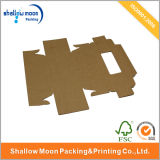 Caja plegable de encargo del papel de Brown Kraft (QYZ051)