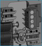 BS203 CNCの旋盤の新しい状態の自在継手4の軸線販売のための小型自動CNCの回転旋盤