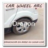 Guarnição de cromo de sobrancelha de roda de carro para proteção e decoração