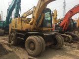 Excavatrice japonaise d'occasion utilisée Pw130es de chargement d'excavatrice de roue de Komastu