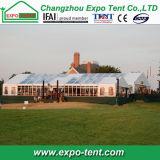 Grande tente de chapiteau d'exposition avec le mur en verre