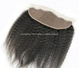 Os acessórios frontais baixos de seda pretos 4*13 livram Hairpieces do laço da parte