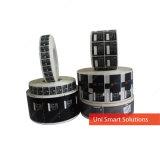 Etiqueta auta-adhesivo de encargo de la alta calidad para las marcas de la electrónica