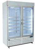 Congelador ereto da bebida da porta dobro do supermercado
