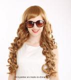Большинств популярный парик синтетики Mop парика шнурка курчавых волос полный