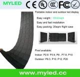Panneau visuel flexible pliable polychrome d'intérieur d'écran de P7.8mm DEL