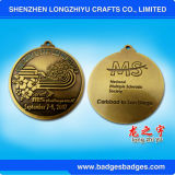 Sale를 위한 Struck Brass Gold Silver와 3D Metal Sports Medal를 정지하십시오