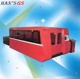CNC láser de fibra 2000 vatios máquina de corte de acero inoxidable, aluminio, aleación con 2 años de garantía