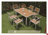 Cadeira e tabela de alumínio da venda por atacado do jardim de Polywood do revestimento do pó
