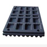 Placa de la trituradora de quijada con alto acero de manganeso