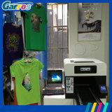 Machine d'impression de T-shirt de coton de vêtement de machine d'impression d'écran du textile A3 avec l'encre blanche