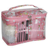 PVC Custom Travel Wash Toiletry Cosmetic Sets con Shampoo Bottle