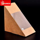 Envase claro impreso insignia del emparedado del papel de la ventana