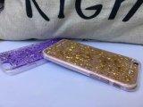 Sequin мягкое TPU яркия блеска Bling золота аргументы за iPhone6 серебряного