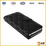 Caja del cuero de la carpeta del OEM Dongguan para el iPhone 6s con el bolsillo de tarjeta conocida