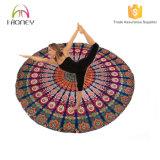 Couvre-tapis de la meilleure qualité de yoga de forme ronde pour les coussins supérieurs de méditation d'adhérence