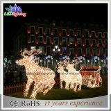 クリスマスの装飾の休日ライトのための方法クリスマスのそりそしてシカ3D LEDのモチーフライト