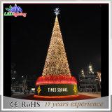 Im Freien riesiges Weihnachtsspirale-Baum-Dekoration-Licht des Grün-LED