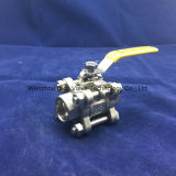 St Stainless Steel 3PC Socket Weld Ball Valve con Lock