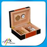 La madera sólida de lujo del cedro del rectángulo de cigarro de la vendimia del rectángulo hizo el rectángulo de almacenaje del cigarro del Humidor
