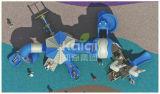 Campo da giuoco esterno di plastica dei bambini di Kaiqi con il tubo della trasparenza, le trasparenze, gli scalatori e la caratteristica della natura