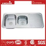 Premier bassin de cuisine de panneau de drain de cuvette de double de support
