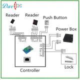 Lecteur de RFID chaud de Wiegand de vente en gros de vente, prix bon marché de lecteur de RFID d'IP de 13.56MHz Mf TCP de système de contrôle d'accès