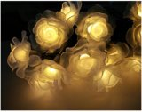 Luz Rose de la cadena de la energía solar 20-LED por el Nuevo-Año Lh-Ss24 de la boda de la Navidad