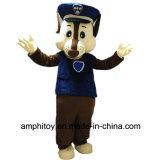 Mascote do caráter do traje da mascote da perseguição