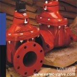 Soupape à vanne molle posée résiliente de fer de fonte de siège de Vatac