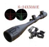 FAVORABLE 6-24X50aoe Milipulgada-PUNTO iluminado R&G táctico Riflescope