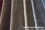 Los hilados de polyester teñieron la tela del terciopelo de dos rayas del tono para el sofá