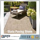 Ardósia Polished da pedra de pavimentação para o revestimento, paisagem, jardim, projetos quadrados