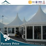 Glass Wallの防水Beautiful Decorated 6m DiameterマルチSided Marquee Party Tent