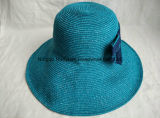 Sombrero de paja fino de la trenza de papel de Floopy del borde del estilo grande de la playa