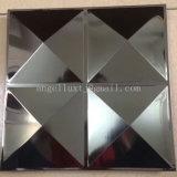Hoja de acero inoxidable grabada espejo decorativo tridimensional 4X8