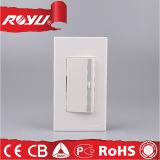 Interruptor eléctrico del botón de la potencia de la pared del hogar de 2 maneras