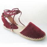 Haut de suède avec les chaussures molles de Falt de semelle intérieure d'Outsole de jute