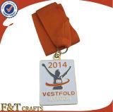 Médailles gravées par coutume de réunion de sport de bâti de zinc (FTMD1379A)