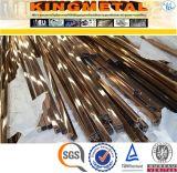 ASME Sb338 Gr2 nahtloses quadratisches Titangefäß 80X80mm