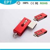 Azionamento su ordinazione 8GB (TJ128) dell'istantaneo del USB di marchio OTG della parte girevole del metallo