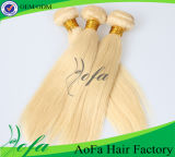 Extensão loura do cabelo humano do Virgin reto natural popular da cor 2016