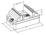 Mittellinien-Präzisions-justierbarer selbstzentrierender Kolben CNC-5