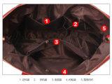 نمو 3 [بكس] محدّد نسيج مربّع أسلوب سيئة [بو] جلد مصممة إمرأة حقيبة حقيبة يد