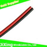 Cabo elétrico da isolação vermelha e preta do PVC de Condctor do Cu