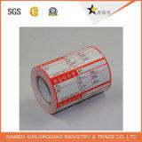 Etiqueta autoadesiva impressa vinil personalizada do pacote da impressão da etiqueta da impressora